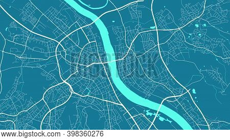 Detailed Map Of Bonn City Administrative Area. Royalty Free Vector Illustration. Cityscape Panorama.