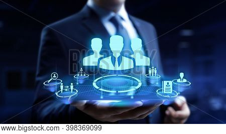 Hr Human Resources Recruitment Headhunting Team Building Business Concept.