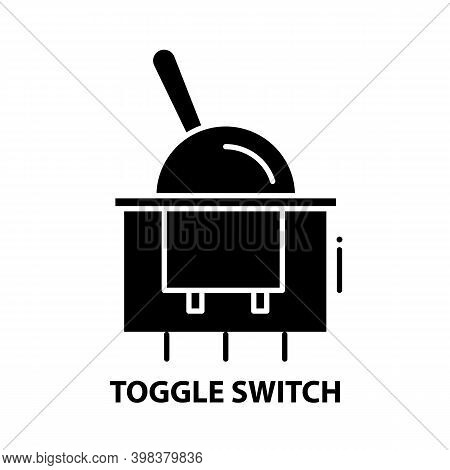 Toggle Switch Icon, Black Vector Sign With Editable Strokes, Concept Illustration