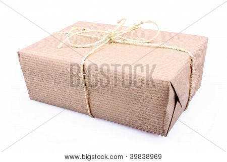 Brown Paper Parcel Isolated On White