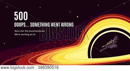 Error 500 Web Page Design, Flat Style Vector