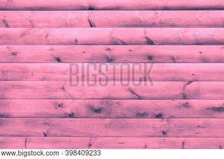 Vivid Pink Wood Plank Wall. Barnwood Surface Material. Siding Imitation Sheet. Table Or Floor Surfac