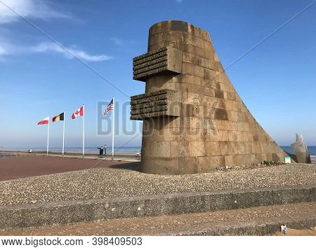 Normandy, France, April 11, 2018. The Memorial To The Allied Troops On The Beaches Of Normandy.