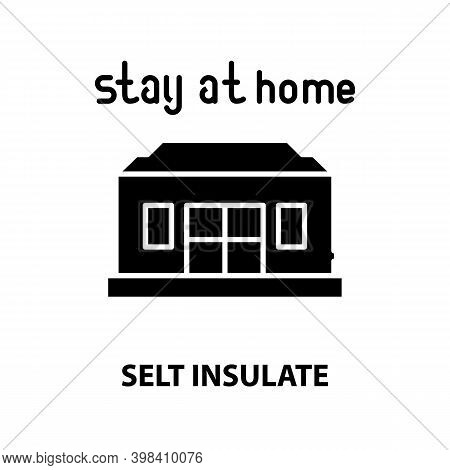 Selt Insulate Icon, Black Vector Sign With Editable Strokes, Concept Illustration