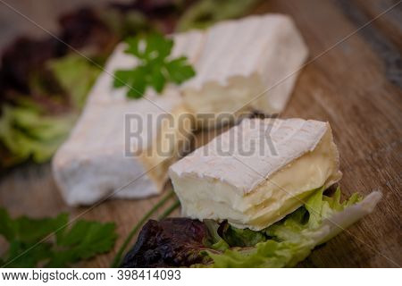 Pont Leveque, French Cheese From Normandy Produced From Cows Milk . High Quality Photo