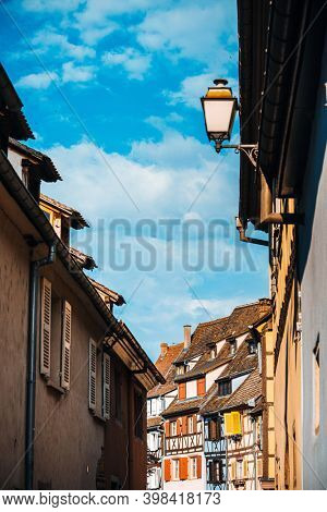 Street view of Traditional houses in Strasbourg