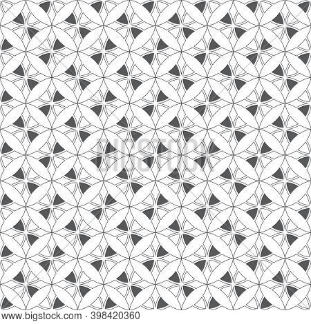Seamless Pattern. Modern Classical Texture. Regularly Repeating Geometrical Tiles With Rhombuses, Di