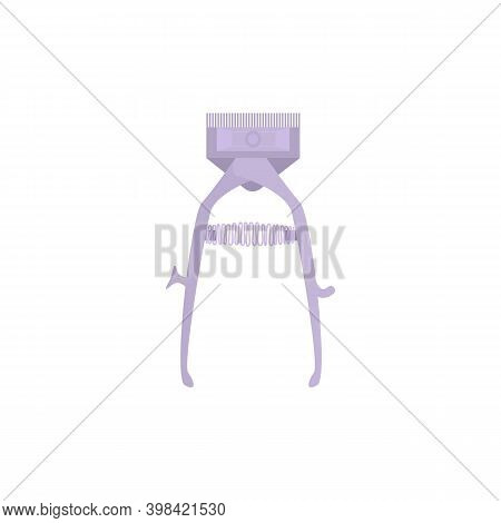 Hair Clippers For Barbers Hairdressing Salon, Flat Vector Illustration Isolated On White Background.