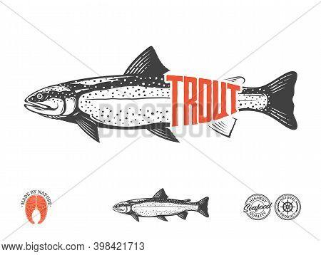 Vector Trout Label