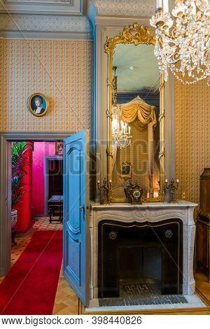Brussels, Belgium - May 03, 2017: Interior of Gaasbeek Castle in Brussels Belgium.