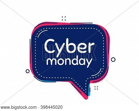 Cyber Monday Sale. Thought Bubble Vector Banner. Special Offer Price Sign. Advertising Discounts Sym