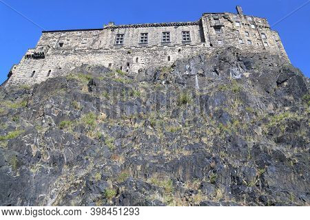 Edinburgh, Great Britain - September 10, 2014: This Is A View Of The Prison Building At Edinburgh Ca