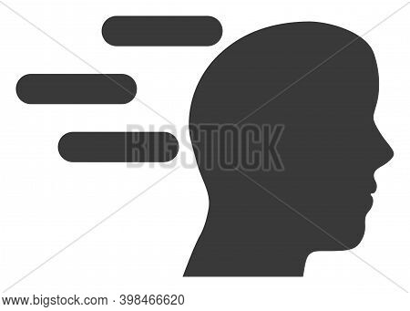 Rush Mind Icon With Flat Style. Isolated Vector Rush Mind Icon Image On A White Background.