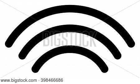 Wi-fi Waves Icon With Flat Style. Isolated Vector Wi-fi Waves Icon Image On A White Background.