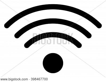 Wi-fi Source Icon With Flat Style. Isolated Vector Wi-fi Source Icon Image On A White Background.