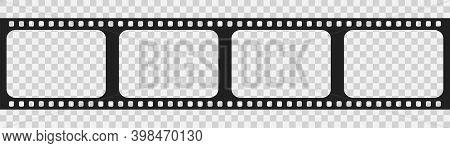 Film Strip Icon . Vecto Illustration On White Transparent Background .film Strip Roll.