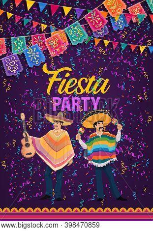 Mexican Holiday Fiesta Party, Cinco De Mayo Celebration, Vector. Mexico Traditional Cinco De Mayo Ho