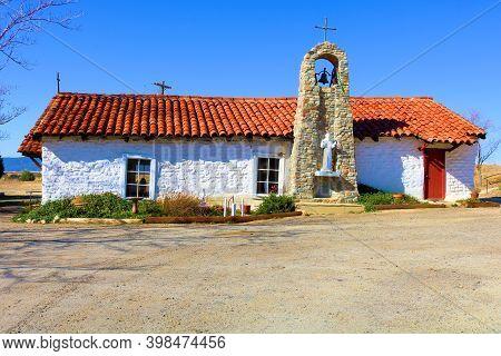 December 5, 2020 In Warner Springs, Ca:  Historical Spanish Colonial Style Catholic Church Taken In