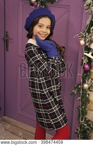 Dont Let Winter Cold Affect Your Style. Happy Child In Winter Style. Style And Fashion. Fashion Tren