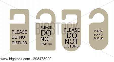 Do Not Disturb Signs. Business Vector Illustration. Card For Paper Design. Icon With Do Not Disturb