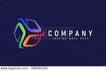 Abstract Colorful Cube Tech Logo Design. Modern Logo Design Usable For Modern Shield Logo Design. Ab