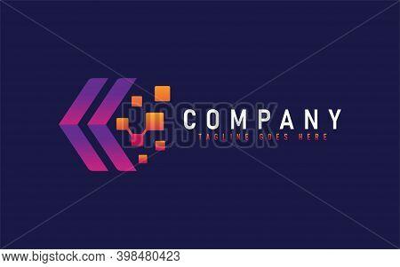 Abstract Tech Arrow Logo Design. Modern Logo Design Usable For Modern Shield Logo Design. Abstract C