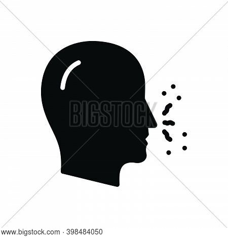 Black Solid Icon For Smell Odor Sniff Nose Scent Sence Human Breath Organ Funk Stink Fetor Malodor
