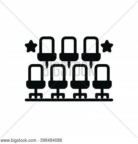 Black Solid Icon For Arrangement Sitting-arrangement Chair Organization Order Regime Dispensation Ad