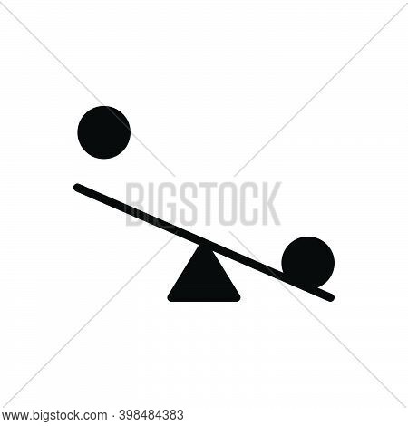 Black Solid Icon For Try Effort Endeavor Equal Compare Balance Weight Comparison Budget Seesaw Swing