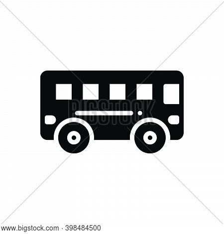 Black Solid Icon For Bus Transport Commercial Passenger Public Station Carriage Transit Conveyance T