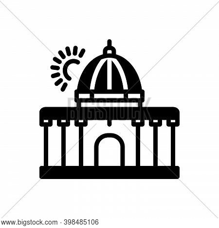 Black Solid Icon For Supreme Highest Constitution Architecture Government Authority