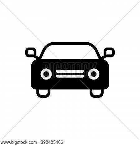Black Solid Icon For Car Auto Passenger Automobile Conveyance Carriage Automotive Transport Travel
