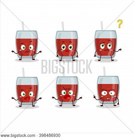 Cartoon Character Of Apple Juice With What Expression