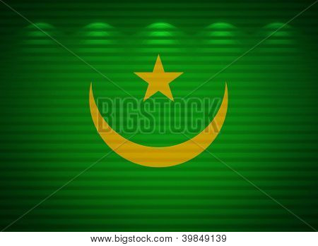 Mauritanian Flag Wall, Abstract Background