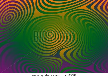 Psychedelic spirals and swirls in acidic hallicinagenic colours poster