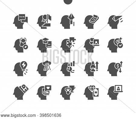 Human Thoughts. Creative Minds. Man Head, Mind Thinking. Different Ideas. Target, Dreaming, Finance,