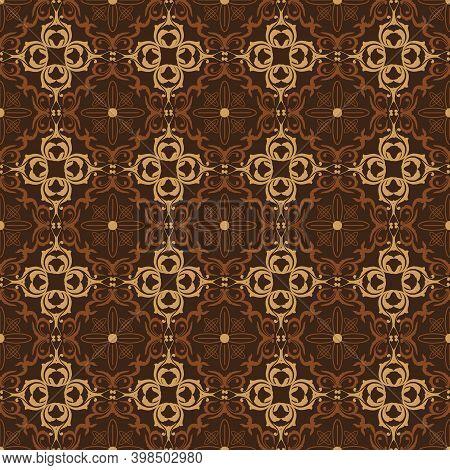 Simple Flower Motifs On Jepara Batik With Simple Combination Color Design.