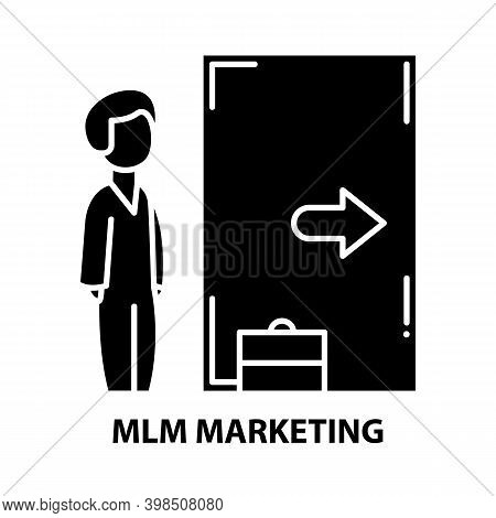 Mlm Marketing Icon, Black Vector Sign With Editable Strokes, Concept Illustration
