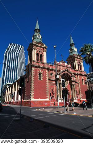 Santiago, Chile - 24 Dec 2019: Basilica De La Merced, Chuch In Santiago, Chile