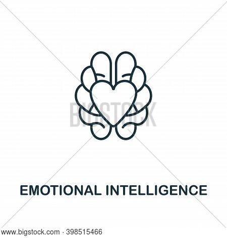 Emotional Intelligence Icon. Line Style Element From Personality Collection. Thin Emotional Intellig