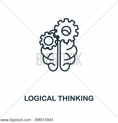 Logical Thinking Icon. Line Style Element From Personality Collection. Thin Logical Thinking Icon Fo