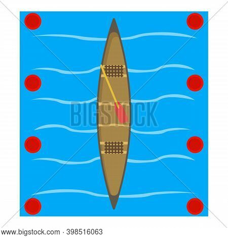 Canoe Icon. Isometric Illustration Of Canoe Vector Icon For Web