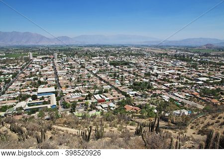 San Felipe, Chile - 31 Dec 2019: Panoramic View On Los Andes City, Chile