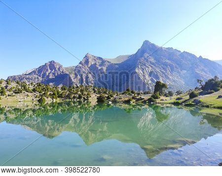 Unforgettable Journey Through The Fann Mountains In Tajikistan.lakes, Mountains, Snow.july 2019