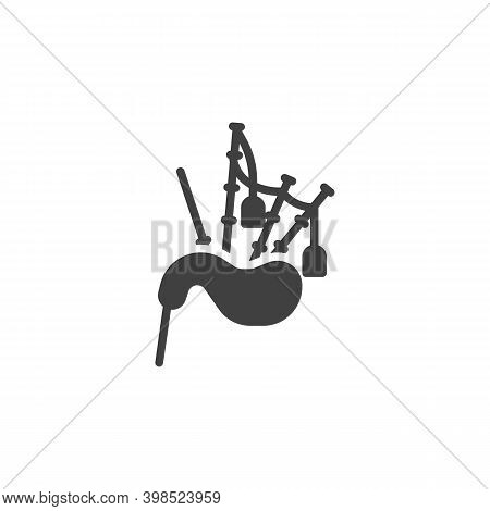 Scottish Bagpipe Vector Icon. Filled Flat Sign For Mobile Concept And Web Design. Bagpipes Musical I