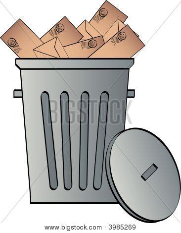 Garbage Can W Envelopes.