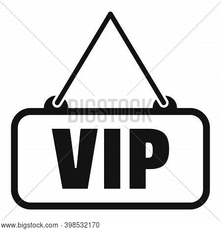 Room Service Vip Icon. Simple Illustration Of Room Service Vip Vector Icon For Web Design Isolated O