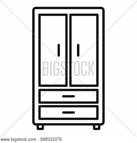 Room Service Wardrobe Icon. Outline Room Service Wardrobe Vector Icon For Web Design Isolated On Whi