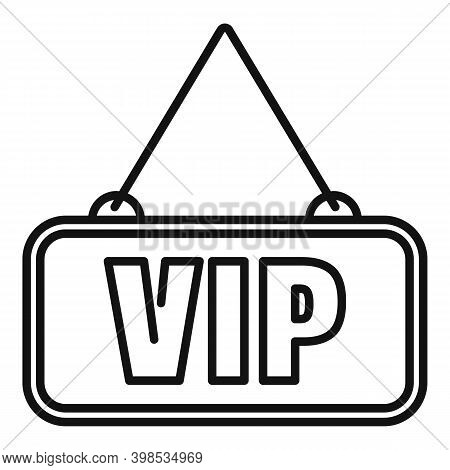 Room Service Vip Icon. Outline Room Service Vip Vector Icon For Web Design Isolated On White Backgro