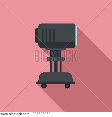 Stage Director Light Device Icon. Flat Illustration Of Stage Director Light Device Vector Icon For W